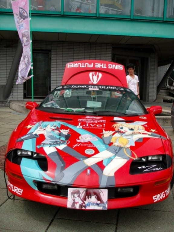 Really Awesome Anime Painted On Cars My Anime Vault - Really awesome cars